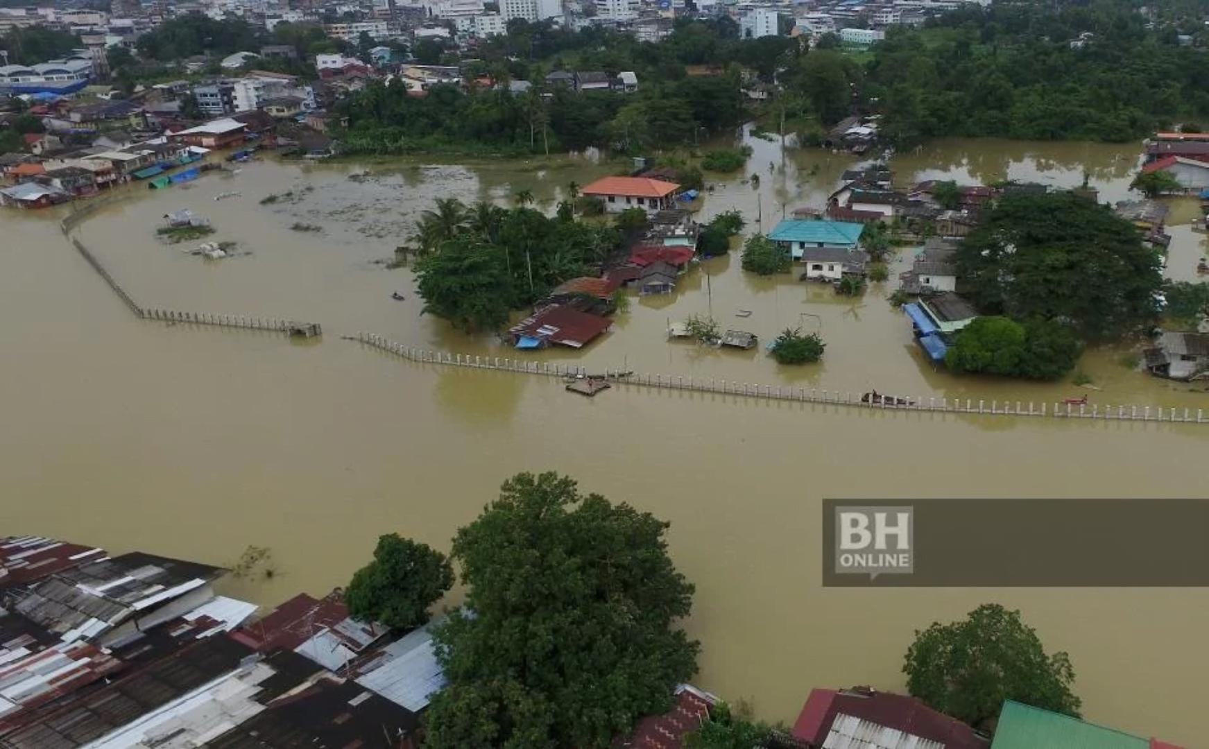 Sempadan Kelantan - Thailand Banjir
