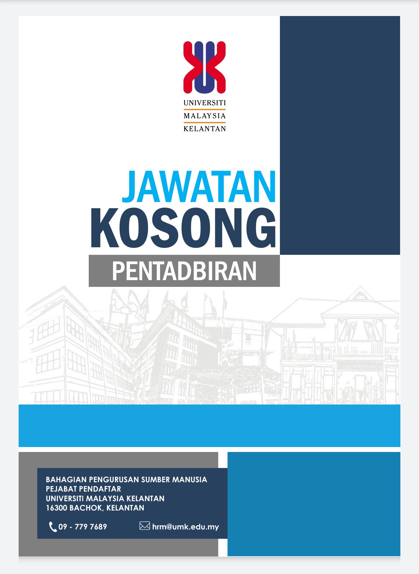 Jawatan Kosong Di Universiti Malaysia Kelantan (UMK ...