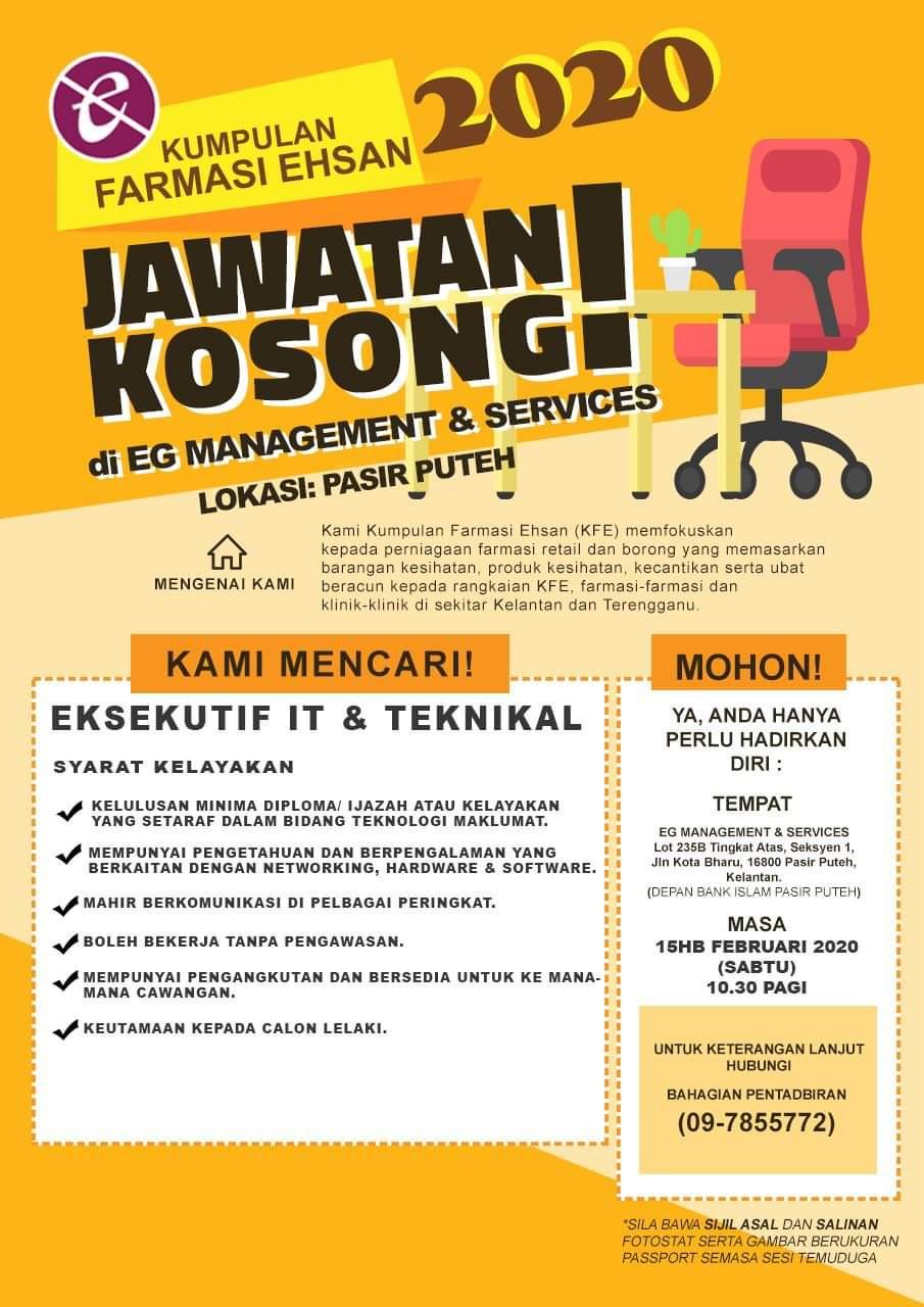 Jawatan Kosong IT & Teknikal Pasir Puteh