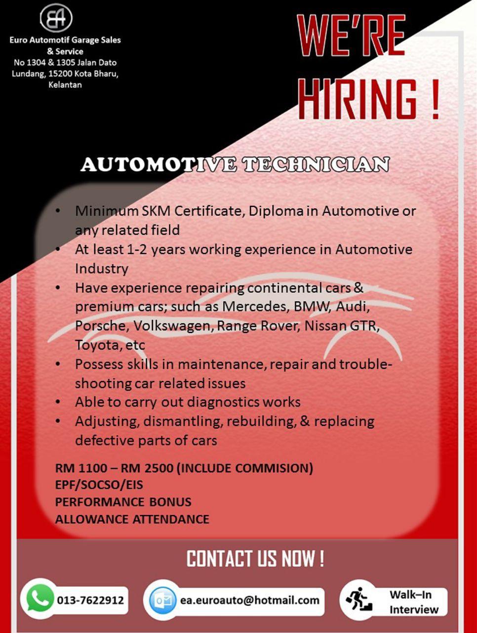 Euro Automotif Garage Sales and Service