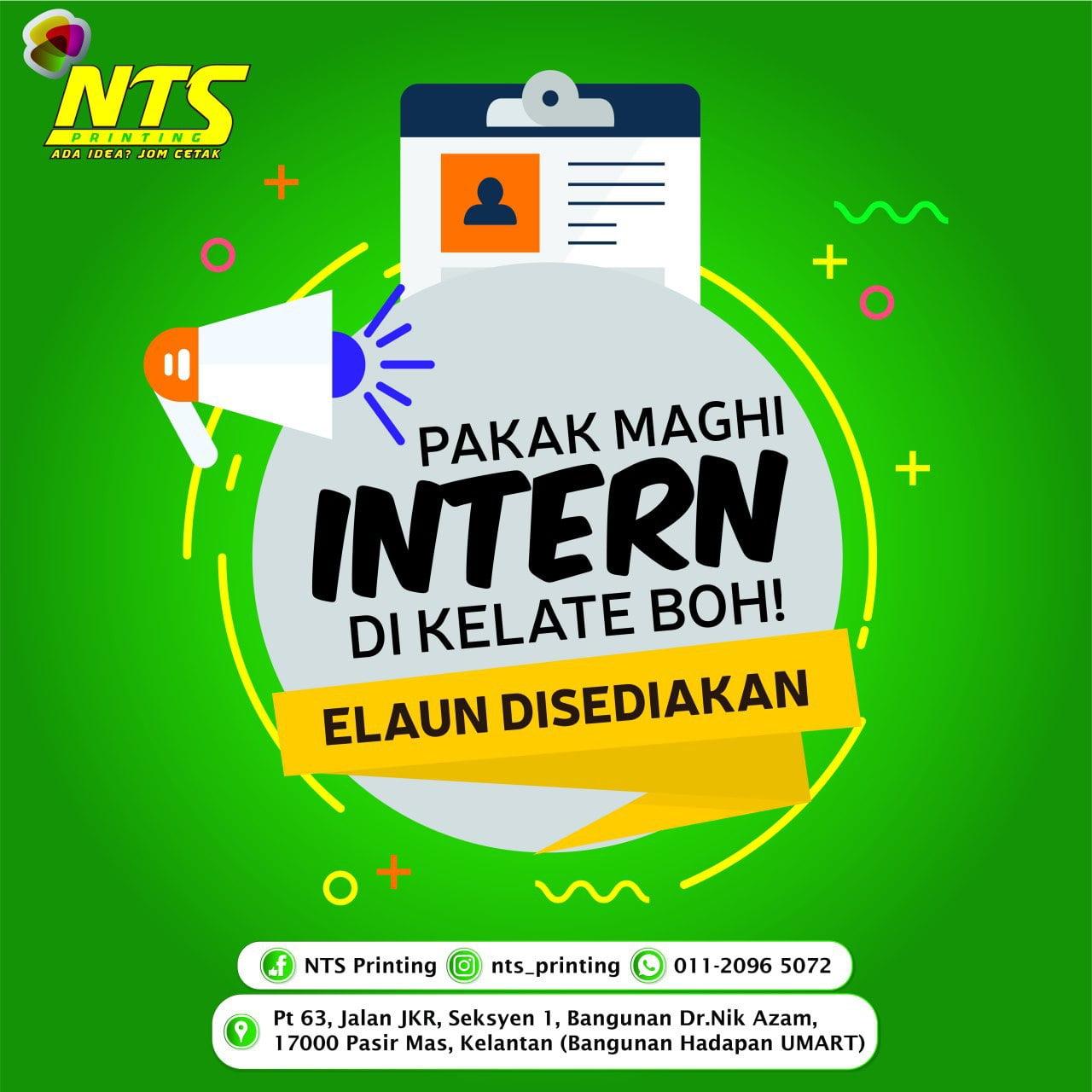 Peluang Praktikal Di NTS Printing ( Pasir Mas)