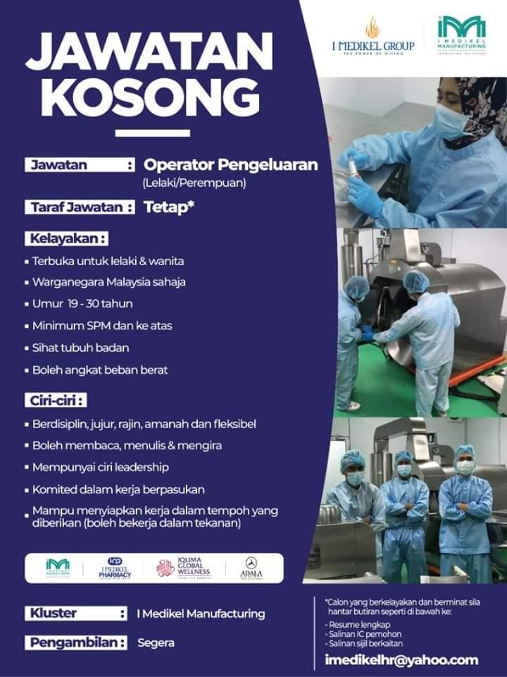 Jawatan Kosong Di I Medikel Manufacturing