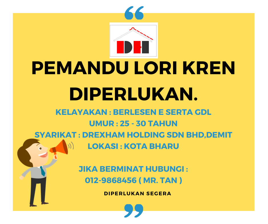 Jawatan Kosong Di Drexham Holding Sdn Bhd