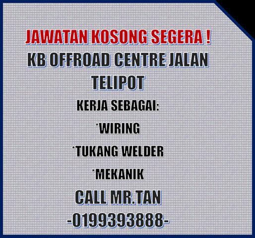 Jawatan Kosong Di KB 4X4 Offroad Centre