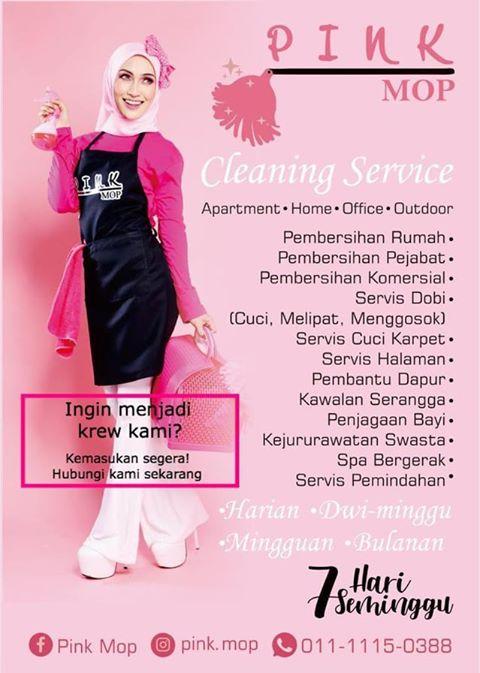 Jawatan Kosong Di Pink Mop Cleaning Services